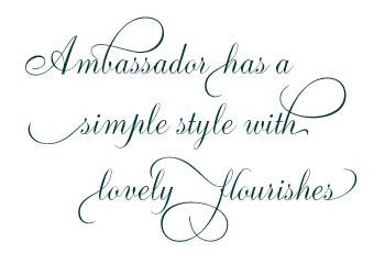 Ambassador script flourishes regular: download for free, view.